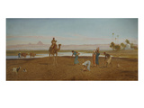 Agriculture in the Nile Valley, 19th Century Giclee Print by Frederick Goodall