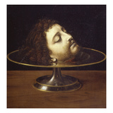 John the Baptist's Head, 1507, Oil on Wood Giclee Print by Andrea Solario