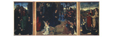 The Portinari Altarpiece, Triptych with Adoration of Shepherds Giclee Print by Hugo van der Goes