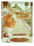 The Angel Gabriel, from the Annunciation, Fresco, C.1481, Detail Giclée-Druck von Sandro Botticelli