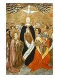 Pentecost, Verdu Retable, 1430-61, Llieda School, Detail Giclee Print by Jaime Ferrer