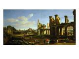 Colosseum and the Roman Forum (Inv 883), Signed and Dated 1733 Giclee Print by Gaspar van Wittel