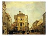 Corner of Old Quarter, Warsaw, Poland Giclee Print by Alojzi Misierowicz