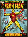 Iron Man (Birth Of Power) Stretched Canvas Print