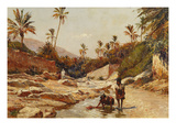 Oasis, Algerian Landscape, Late 19th Century Giclee Print by  Darley