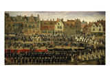Procession of Young Girls from Sablon to Brussels, Belgium Giclee Print by Antoine Or Anthonis Sallaert