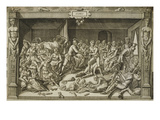 Famine, Engraving, Early 17th Century Giclee Print by  Flemish School