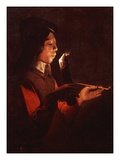 Le Souffleur À La Pipe (The Pipe Smoker) Giclee Print by Georges de La Tour (Workshop of)
