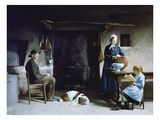 Before Dinner, 1891; Typical Bresse Interior Giclee Print by Philippe Jolyet