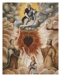 The Trinity, Saint Francis De Sales, 1567-1622 and Saint Jane Francis De Chantal, 1572-1641 Giclee Print by  French School