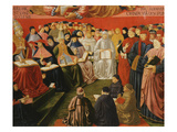 Assembly of the Clergy with Pope Sixtus IV (Elected August 1471) Giclée-tryk af Benozzo Gozzoli