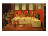 Dining Scene, Late 15th Century (Umbrian) Giclee Print by Fiorenzo Di Lorenzo