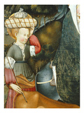 Servant Girl with Bundle on Her Head, the Flight into Egypt, Verdu Retable, 1430-61 Giclee Print by Jaime Ferrer
