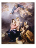 The Holy Family, Called the Virgin of Seville, 1670 Giclee Print by Bartolome Esteban Murillo