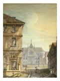 La Rue Du Fouarre, 12È, Paris, Watercolour, C.1830 Giclee Print by Jean Baptiste Marechal