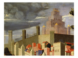 Temple, Walls and Houses, Jerusalem, from Deposition of Christ, 1435 Giclee Print by Fra Angelico