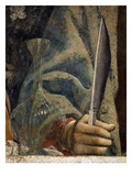Hand of Saint Andrew Holding Knife, with Glass Carafe, from the Last Supper, Fresco C.1444-50 Giclee Print by Andrea Del Castagno