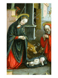 Nativity, Triptych, 1523 (Inv 1040), Left-Hand Panel, Detail Giclee Print by Defendente Ferrari