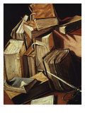 Nature Morte De Livres (Still Life of Books) (Detail) Giclee Print by Charles Emmanuel Bizet D'Annonay