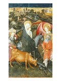 The Flight into Egypt, Verdu Retable, 1430-61, Llieda School Giclee Print by Jaime Ferrer