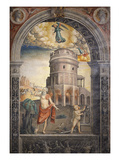 Man Drinking before Mausoleum of Theodoric, Ravenna, Italy; Above, Zodiac Sign of Virgo, 1520 Giclee Print by Giovanni M Falconetto (Attr to)
