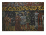 Three Kings Arriving at Jerusalem, Meeting Herod, King of the Jews, Painted Wooden Nave Giclee Print by  French School