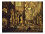 Interior of Church Giclee Print by Hendrik Van Steenwyk