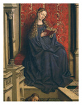 Virgin Mary Reading, from the Fountain of Grace, 15th Century (Detail) Giclee Print by  Flemish School