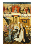 Annunciation, Verdu Retable, 1430-61, Llieda School Giclee Print by Jaime Ferrer
