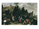 Village Festival, 1637 Giclee Print by David Teniers the Younger