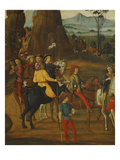 Procession of Horsemen, the Adoration of the Magi, the Nativity and the Annunciation to Shepards Giclee Print by  Florentine School