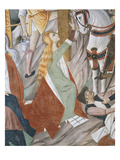 Mary Magdalene at the Foot of the Cross, the Crucifixion, Scene from Christ's Passion Giclee Print by Giovanni Canavesio