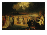 Chopin's Polonaise, Concert Given at Hotel Lambert, 1849-50 Study Giclee Print by Antar Teofil Kwiatowski