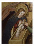 Virgin and Child, Nativity Scene, Retable of Virgin Mary, by Master of Guardia Pilosa Giclee Print by Tarragona School