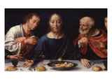 Last Supper, Predella from Three-Part Retable, Paint on Wood, C. 1530-40 Giclée-Druck von Joos Van Cleve