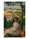 Vue De Village (View of Castelnau Village, France), 1868 Giclee Print by Frederic Bazille