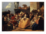 Carnival Scene, or the Minuet Giclee Print by Giovanni Domenico Tiepolo