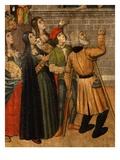 Women and Beggar in Street, from Saints Sebastian and Polycarpus Destroying Idols (Detail) Giclee Print by Pedro Garcia De Benabarre