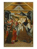 Adoration of the Shepherds, Verdu Retable, 1430-61, Llieda School Giclee Print by Jaime Ferrer