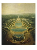 Perspective View of the Palace and Gardens of Marly, France, 1724 (Mv 762) Giclee Print by Pierre-Denis Martin
