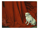 Cardinal Rolin's Lapdog Sitting on His Red Cloak, from the Nativity Giclee Print by Jean Hey