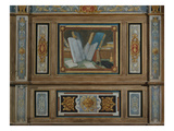 Reading, Painted Wood Panelling, Galerie Des Illustres, C.1620 Giclee Print by Jean Mosnier