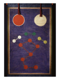 Shamanic Painting, the Great Bear, the Sun and the Moon, 19th Century, Coloured Paper, Korea Giclee Print