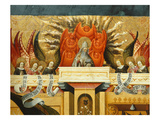 God the Father, Surrounded by Angels, Annunciation, Verdu Retable, 1430-61, Llieda School, Detail Giclee Print by Jaime Ferrer