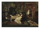 Parisian Interior, 1877 Giclee Print by Mihaly Munkacsy