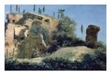 A La Villa Farnèse; Les Ruines (At the Villa Farnese, Near Rome, Italy; Ruins) Giclée-Druck von Pierre Henri de Valenciennes