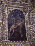 Adam and Eve, Painting, from Painted and Gilded Stuccowork Nave Ceiling, 18th Century Photographic Print
