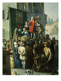 Village Market Scene with Quack or Charlatan, 18th Century, Detail Giclee Print by Graneri