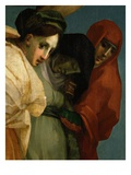 Virgin Mary Supported by Two Holy Women, from Christ's Deposition from the Cross, 1520-21 (Detail) Giclee Print by  Rosso Fiorentino (Battista di Jacopo)