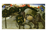 The Miracle of the Lion, Predella from Signed Retable Dated 1444 Giclee Print by Sano di Pietro